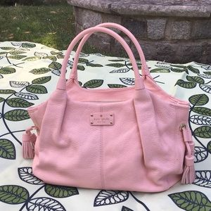 Kate Spade Stevie Leather Bag in Baby Pink